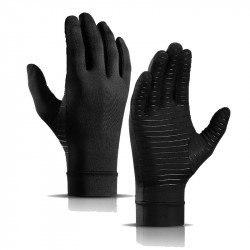 1 Pair Breathable Non-Slip Arthritis Care Gloves Pressure Gloves Outdoor Fitness Gym Gloves Full Finger Gloves