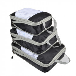 3Pcs/set IPREE Colourful Waterproof Travel Camping Clothes Storage Bag Wardrobe Luggage Cube Container Organizer