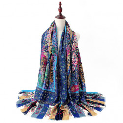 Shawl Sunscreen Retro Warm Cotton Linen Mexican Scarf
