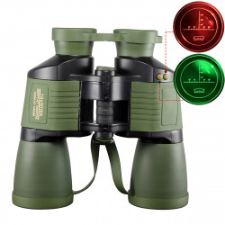 10x50 Outdoor Tactical Binocular Night Vision Reconnaissance Coordinates Binoculars BAK4 Prism HD Blue Film Telescope