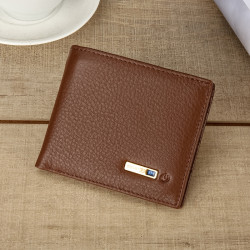 Men Vintage Genuine Leather Card Holder Wallet