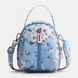 Women Waterproof Light Weight Small Mini Printed Pattern Shoulder Bag Crossbody Bag Phone Bag