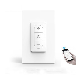 2.4G WiFi Smart Light Dimmer Switch DIY Wireless Breaker Voice Remote Control Work with Smart Life Tuya Alexa Google Home For Smart Home
