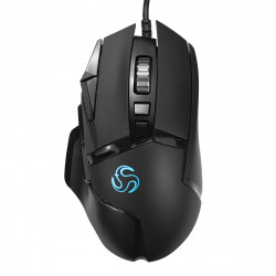 VS16A 6400DPI Button USB Wired RGB Backlight Ergonomic Programmable Response Optical Gaming Mouse