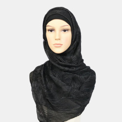 Women Polyester Solid Color Silk Ethnic Turban Hijab Scarf