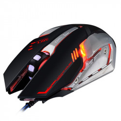 IMICE V8 USB Wired RGB Gaming Mouse 4000DPI Macro Programming 6D Optical Mechannical Computer Gamer Mouse for Laptop PC Computer