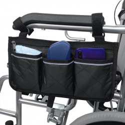 Portable Wheelchair Side Bag Multifunctional Armrest Pouch Organizer Bag Storage Bag