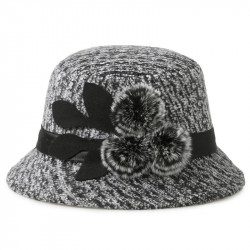 Women's Hat Woolen Wedding Hat With Flower
