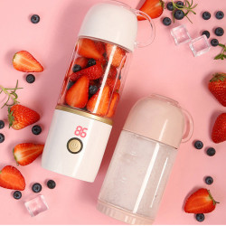 Vitamer 400ml Automatic Fruit Juicer Portable Travel USB DIY Electric Juicing Extractor Cup with Intelligent Digital Display UV Disinfection Lamp