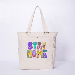 Women Anti-epidemic Character Casual Canvas Shoulder Bag