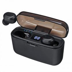 TWS Mini bluetooth LED Digital Display Earphone Waterproof Auto Pair Headset with 2000mAh Power Bank