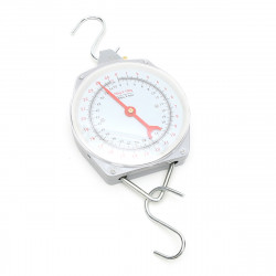 25KG 55lbs Capacity Alloy Mechanical Hanging Scales Mechanical With 2 Hooks Weighting Scale
