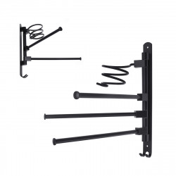 2/3-Arm Bath Towel Rod Rack Holder Wall Mounted Organizer Bathroom Kitchen Storage Rack