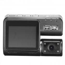 2inch 1080P Dual Lens Car DVR Dash Camera Rearview Cam Recorder Night Vision