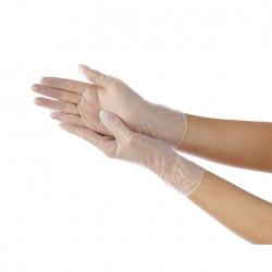 HUJIASHEN 100*Pcs Disposable PVC BBQ Gloves Waterproof Antibacterial Anti-virus Glove