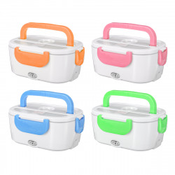 12-240V US Plug 40W 1200ML Electric Heated Lunch Box Food Warmer Household School Office Car Bento Box with Spoon