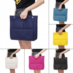 Large Organizer Cosmetic Bag in Bag Casual Travel Multi-pockets Elegant Bag Handbag