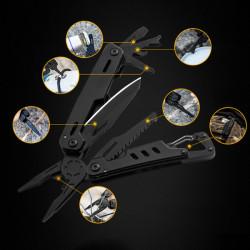 VOLKEN 11 in 1 Multifunctional Pliers Portable Outdoor Hikibg EDC Folding Knife Tool