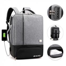 Xmund XD-DY35 35L USB Backpack 15.6inch Laptop Bag Waterproof Anti-theft Lock Travel Business School Bag