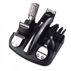 Kemei KM-600 6 in 1 Electric Hair Clipper Shaving Machine Beard Trimmer Cut Hair Trimmer Ear Nose and Facial Cleaning Tools