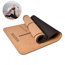 183x65cm Yoga Mats Anti-slip Cork PVC Gym Sport Pad Exercise Fitness Mat