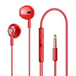 Lenovo HF140 3.5mm Wired Headphones Super Bass Stereo Metal Music In-ear Earphone with Mic for iphone Xiaomi Huawei