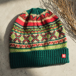 Ethnic Style Vintage Ethnic Print Beanie Hat Casual Knit Warm Caps