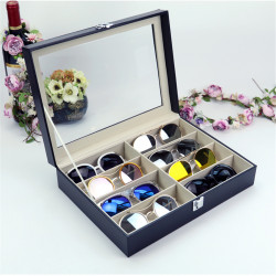 8 Slots Glasses Display Case Storage Baskets Organizer Holder For Sunglasses