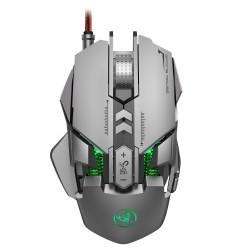 HSJ J800 6400 DPI Wired LED RGB Backlight Full-key 7 Mechanical Gaming Mouse for PC Laptop