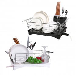 Kitchen Drain Shelf Dish Rack Plates Bowl Drying Organizer Holder Drainer Stainless Steel