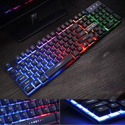 GX50 104 Keys USB Wired RGB Backlit  Waterproof Ergonomic layout ABS Ketcap Gaming Keyboard