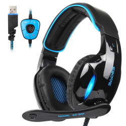 SADES SA-902 7.1 Channel Virtual Surround Stereo Bass LED Light Gaming Headphone with Mic for Computer PC Gamer