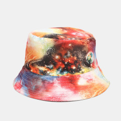 Graffiti Galaxy Fisherman Hat Women's Cotton Basin Hat Bucket Hat
