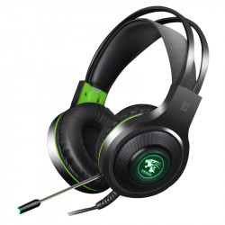 V5000 3.5mm Audio Light Weight Wired Control Headphone with 100mm Speaker Unit Gaming Headset for Computer Profession Gamer