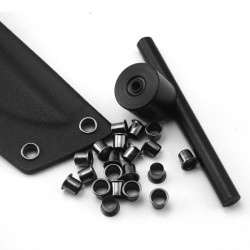 60pcs 1.5-2mm K Sheath Eye Rivet Scabbard  Rivets Clips Stomata With Installation Tool