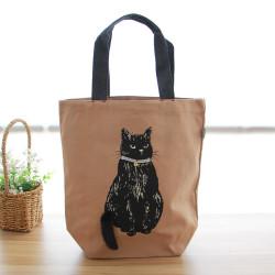 Women Large Capacity Casual Nylon Light WeightCute Cat Bag Handbag  For Outdoor Shopping