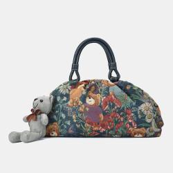 Women Bear Pattern Casual Handbag Crossbody Bag
