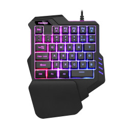 Yougui G92 Single Hand Mechanical Keyboard 35 Keys One Hand Left Hand Mobile Game USB Keyboard for Computer Laptop PC