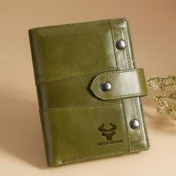 Women Genuine Leather Vinatge RFID Blocking Zipper Wallet
