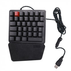 K106 36 Keys USB Wired  LED Ergonomic Single Hand Mechanical Gaming Keyboard with Wrist Rest for Laptop PC