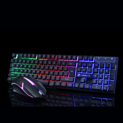 GTX300 104 Keys RGB Backlight Superthin Gaming Keyboard and 2.4GHZ 1200DPI 3 buttons USB Optical Gaming Mouse