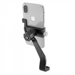 ROCKBROS D-D102 Aluminum Alloy Phone Holder 65-100mm Width 360 Adjustable Shockproof Portable Phone Bracket