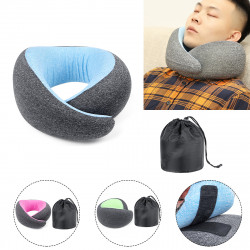 Memory Foam U-shaped Pillow Neck Support Travel Office Fitness Relaxing Neck Guard Sleeping Head Cushion
