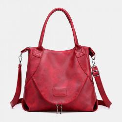 Women Casual Waterproof Solid Tote Bag Crossbody Bag Handbag