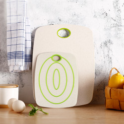 2 Pcs Non-Slip Cutting Board Eco-Friendly Wheat Straw Chopping Fruit Food Vegetable for Kitchen Accessories