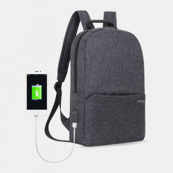 Casual Light Weight Waterproof Backpack With USB Charging Port For Outdoor