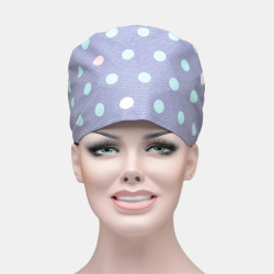 Polka Dot Printing Scrub Cap Surgical Surgery Hat