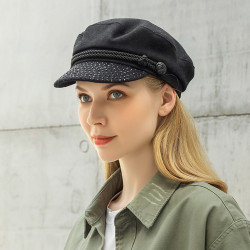 Cotton Beret Navy Cap Peak Cap Flat Hats Wild England Military Hat Captain Caps Navy Caps