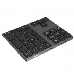 34 key bluetooth 3.0 USB Chargeable Ultra-thin Keyboard for PC Laptop Phone Oiffice
