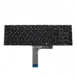 MSI Steelseries GL62 GL72 PC Replacement Gaming Keyboard US No Backlit Frame White Print